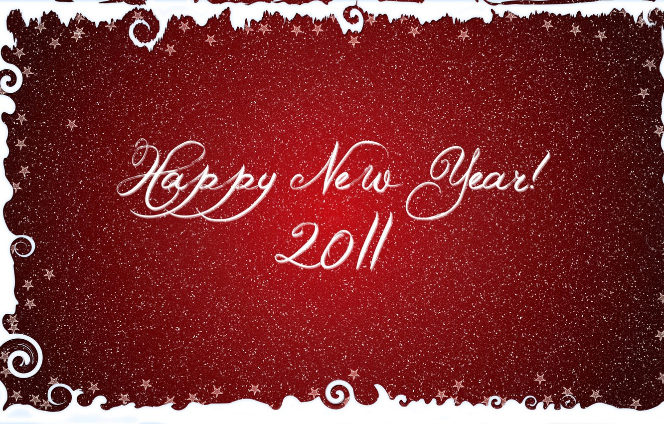 Photo wallpaper snowflakes, red, letters, background, the inscription, new year, font, stars, congratulations