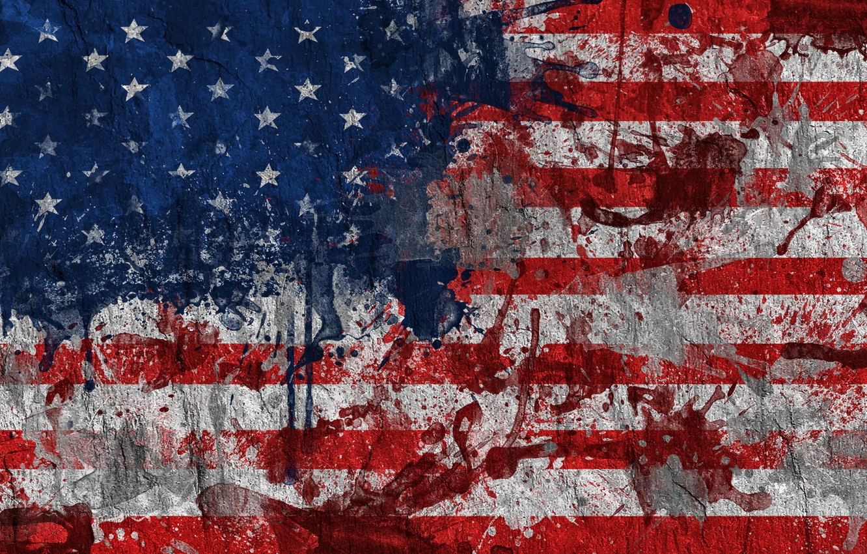 Wallpaper Paint Flag Usa Usa Flag United States Of America