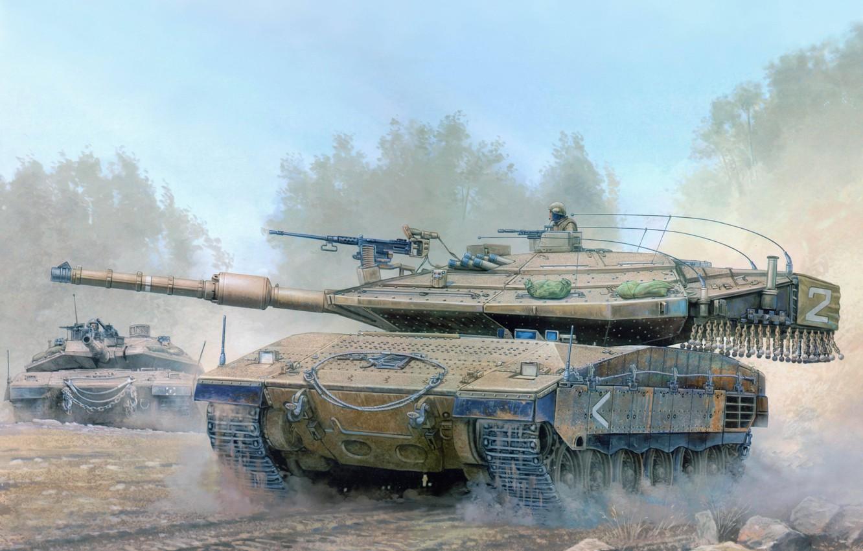 Photo wallpaper Wallpaper, tank, armor, Merkava Mk 4