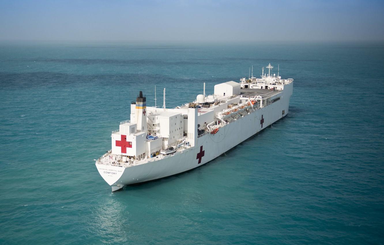 Photo wallpaper ship, class, USNS Mercy, hospital ships, T-AH 19