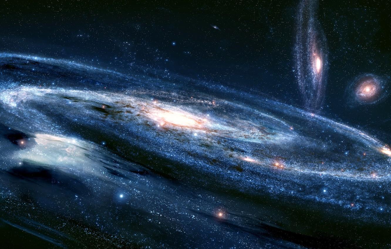 Photo wallpaper the sky, stars, nebula, the universe, galaxy