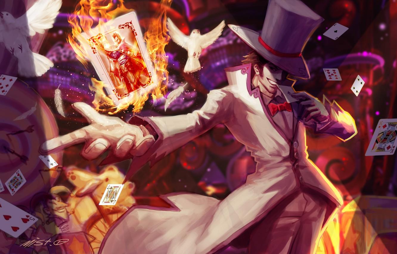 Wallpaper Card Fire Hat Art Pigeons Male League Of Legends