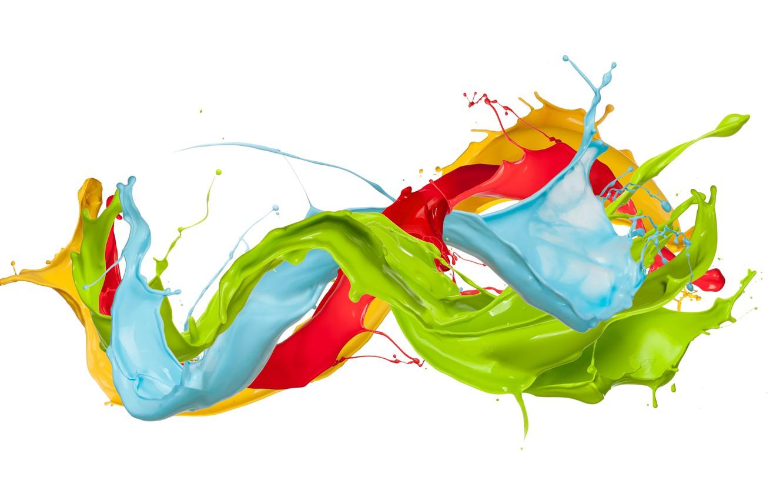 Photo wallpaper drops, squirt, paint, colors, design, splash, paint