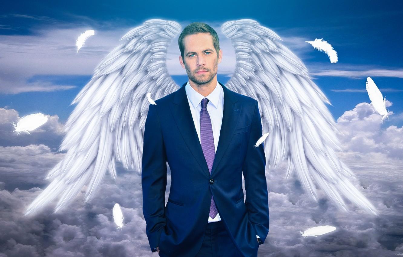 Photo wallpaper memory, heaven, wings, actor, Paul Walker, Paul Walker, Tribute