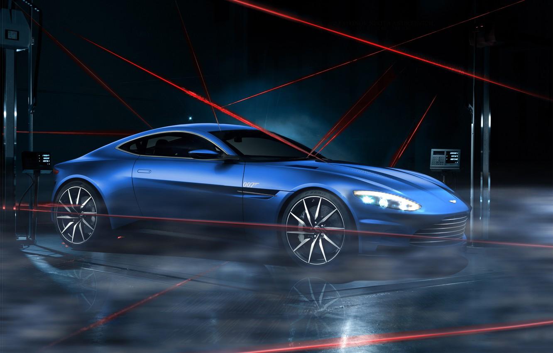 Photo wallpaper Aston Martin, Dark, Car, Lagonda, Blue, Laser, Limited, DB10