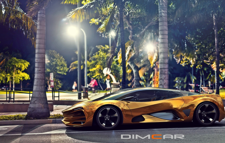 Photo wallpaper Concept, Car, Lada, Side, Gold, 2014, Raven, by Dmitry Lazarev