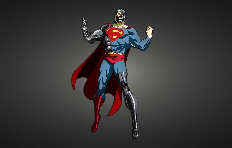 Photo wallpaper metal, robot, Superman, cyborg, Creek, comic, Superman