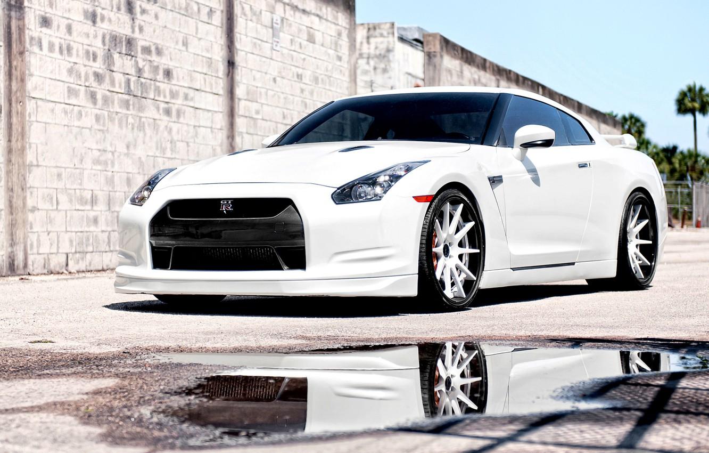 Photo wallpaper cars, nissan, white, cars, Nissan, gtr, auto wallpapers, car Wallpaper, auto photo