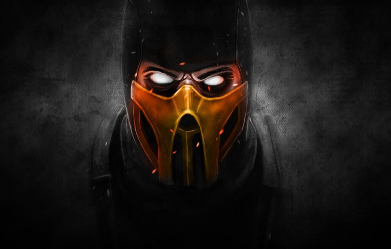 Wallpaper The Dark Background Mask Scorpio Ninja Scorpion