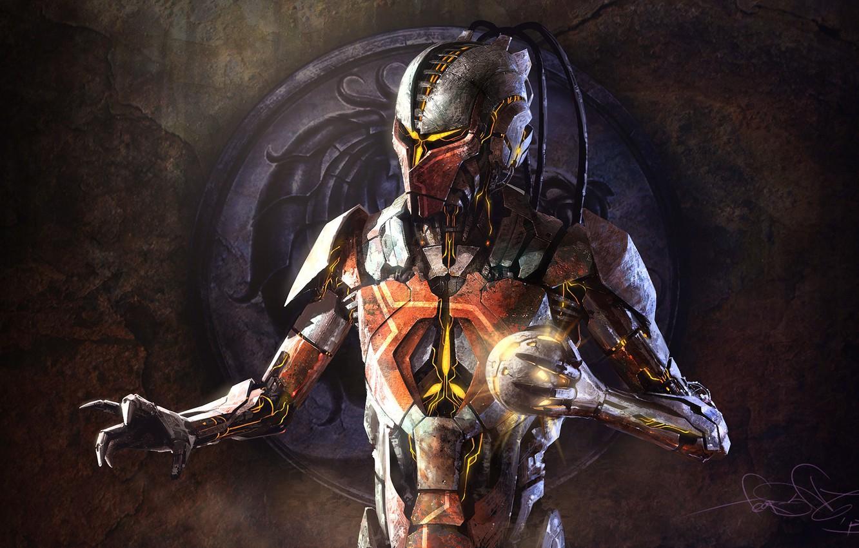 Photo wallpaper robot, cyborg, mortal kombat, sector