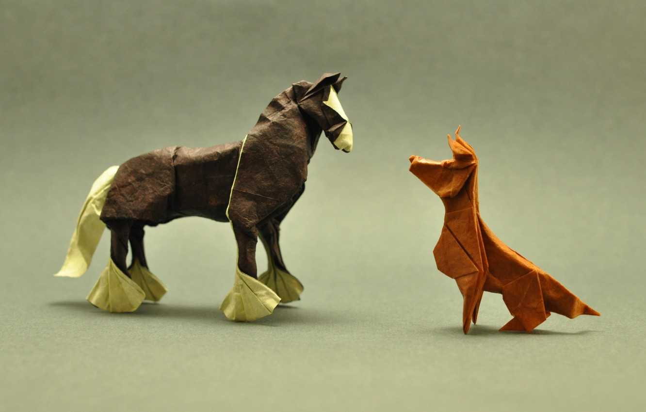 How to make an origami Dog face | Paper Crafts Instructions and ... | 850x1332