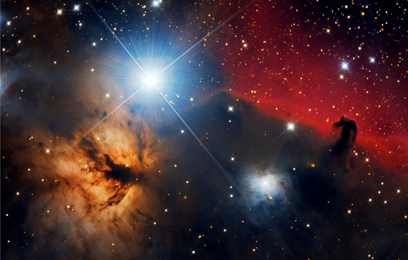 Wallpaper Space Horse Head Nebula Flame Images For Desktop