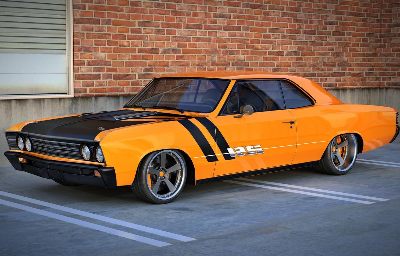 Photo wallpaper chevrolet, muscle car, chevelle, render, dangeruss