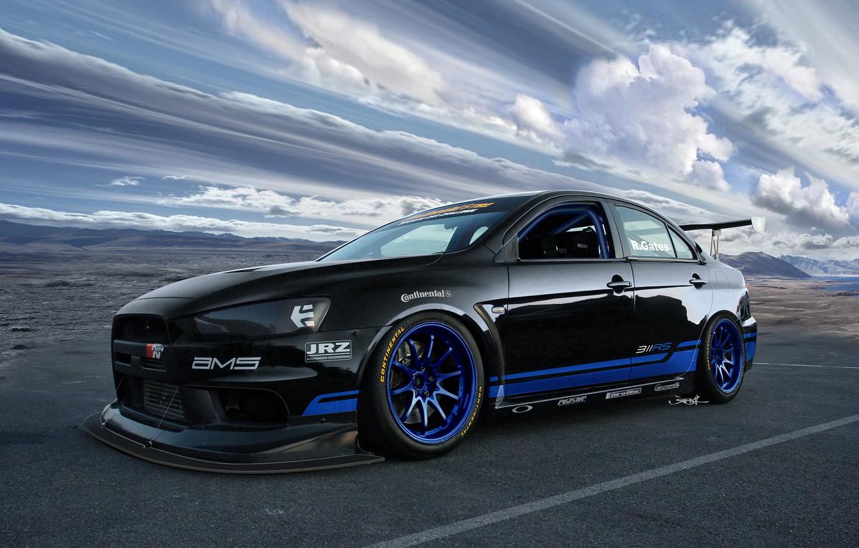 Photo wallpaper Mitsubishi, Lancer, Sky, Evolution X