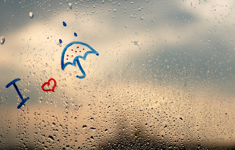 Wallpaper Rain Window Rainy Day Raindrops Images For