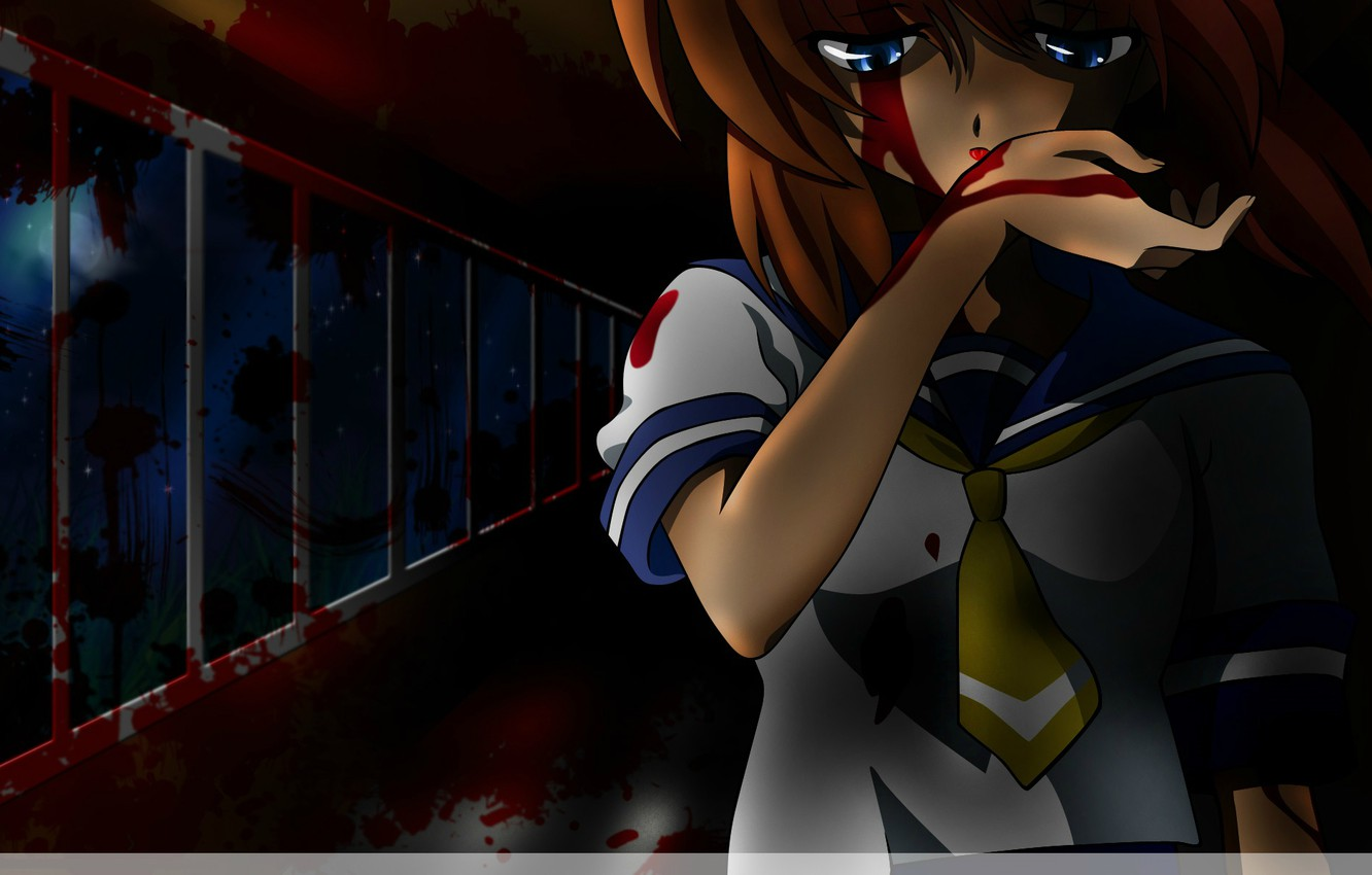 Photo wallpaper night, blood, spot, when the cicadas cry, massacre, bloody tears, obsessed, Rena Ryuugu, when Cicadas …
