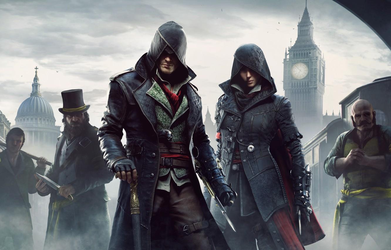 Photo wallpaper station, hood, cane, Big Ben, gang, blade, killer, assassins, Assassin's Creed: Syndicate
