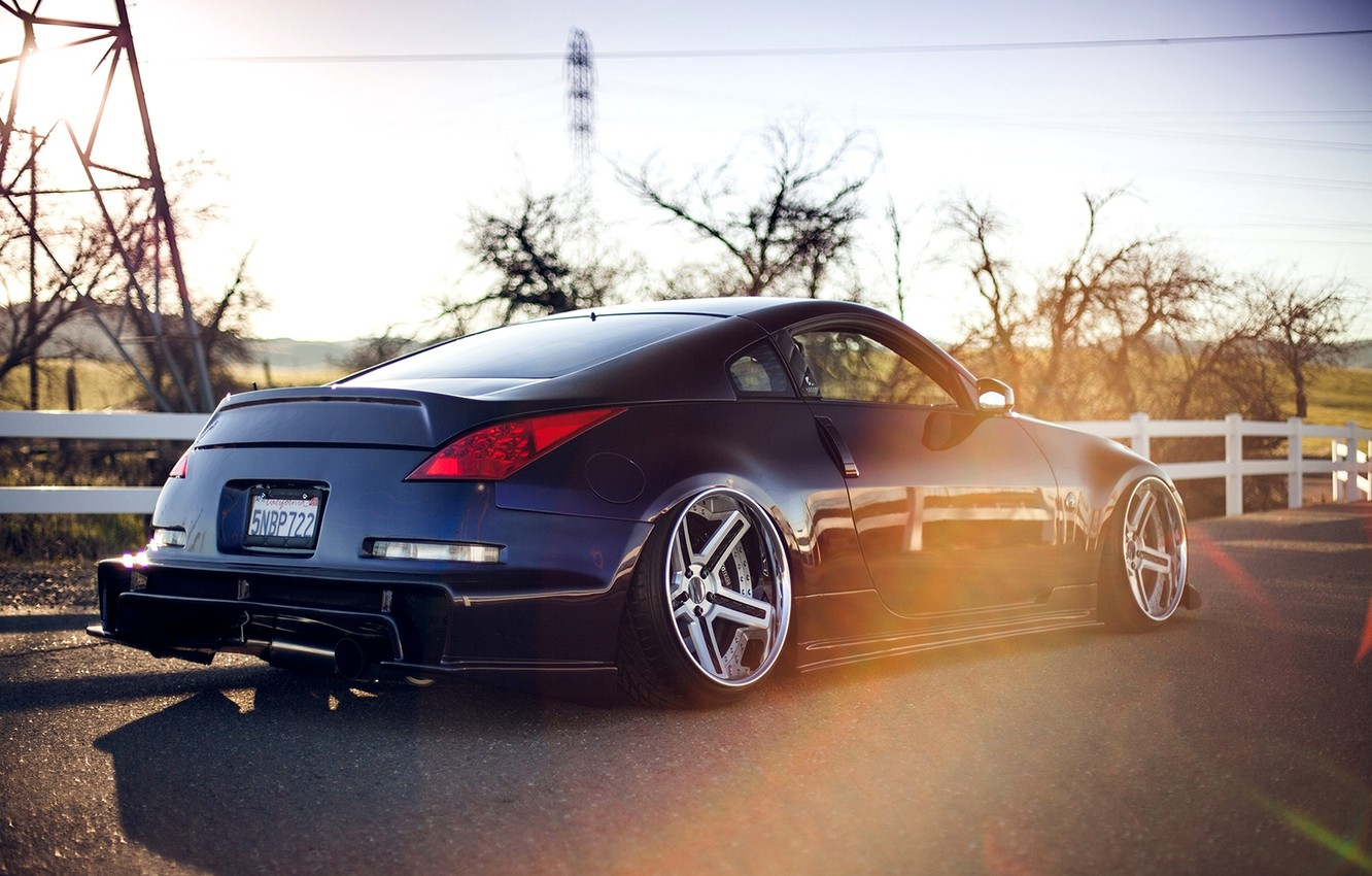 Photo wallpaper Machine, Tuning, Nissan, Nissan, Car, 350z, Car, Tuning, Stance, Twin Turbo, Stens, 350з