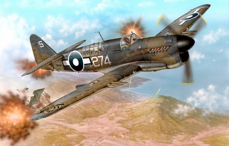 Photo wallpaper war, art, airplane, painting, aviation, Fairey Firefly