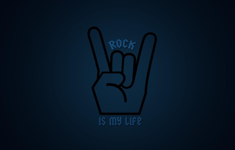 Photo wallpaper rock, rock, dark blue, rock'n' roll