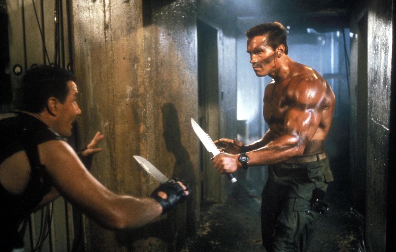 Photo wallpaper Commando, Arnold Schwarzenegger, Arnold Schwarzenegger, John Matrix, Commando