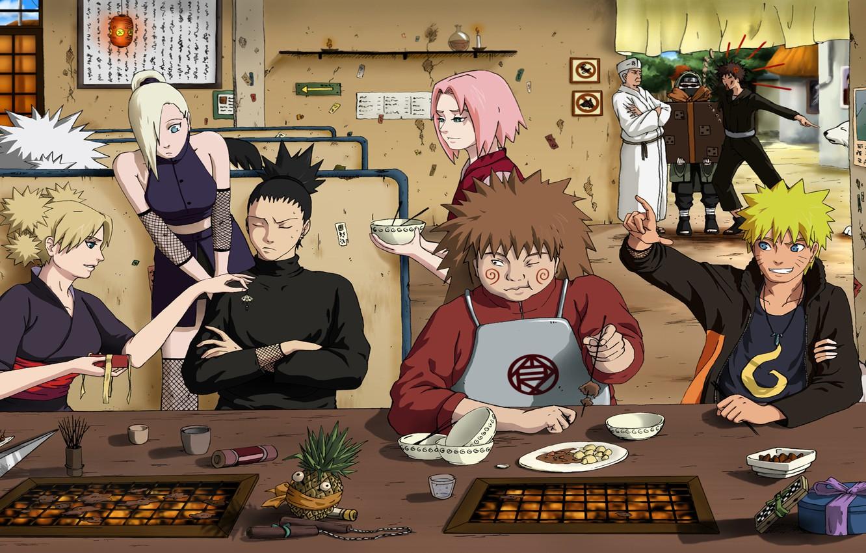 Photo wallpaper CECI Akimichi, Naruto Uzumaki, Ino Yamanaka, Shino, Aburame, Kiba Inudzuka, Hinata Hugo, Sakura Harun, Shikamaru …