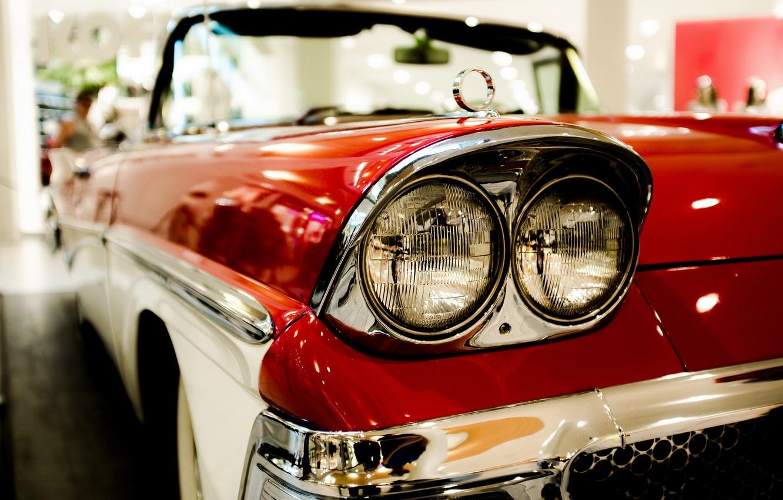 Photo wallpaper machine, Ford, headlight, Fairlane