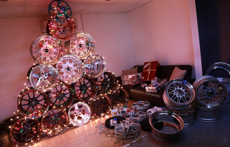 Photo wallpaper wheel, Tree, Drives, BBS, Rays