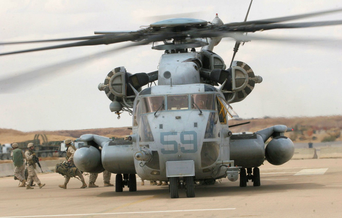Wallpaper Soldiers The Airfield Ch 53 Sea Stallion Heavy