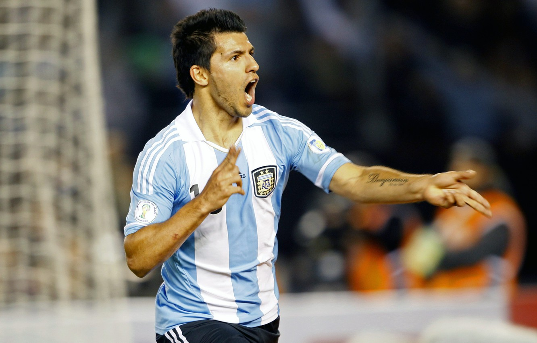 Photo wallpaper football, Argentina, football, forward, goal, Aguero, Manchester City, Kun, Aguero