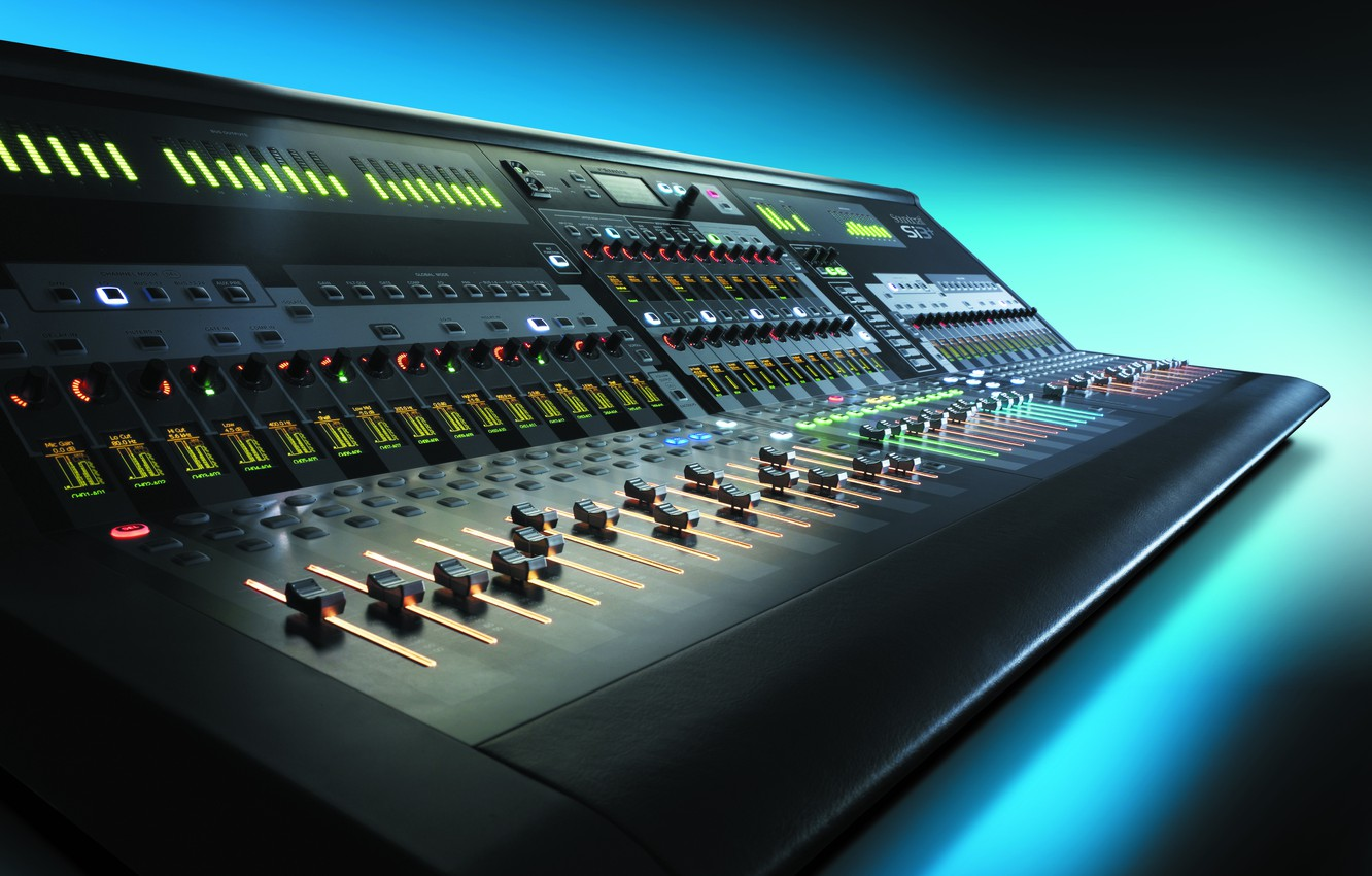 Photo wallpaper console, DJ, digital, Soundcraft Si3+
