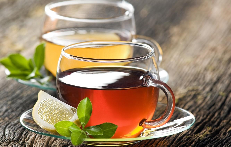 Photo wallpaper lemon, tea, Cup