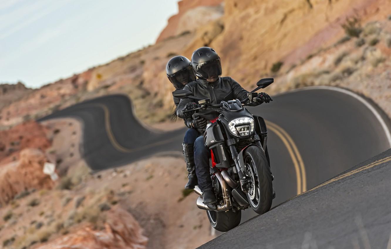 Photo wallpaper Ducati, Carbon, road, muscle, power, cruiser, Diavel, musclebike
