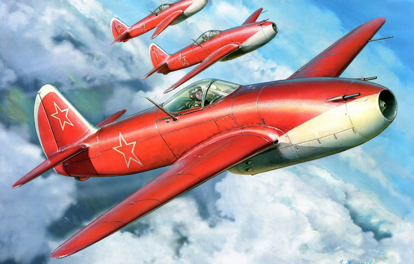 Photo wallpaper clouds, figure, art, aircraft, THE SOVIET AIR FORCE, AS-15, Feather