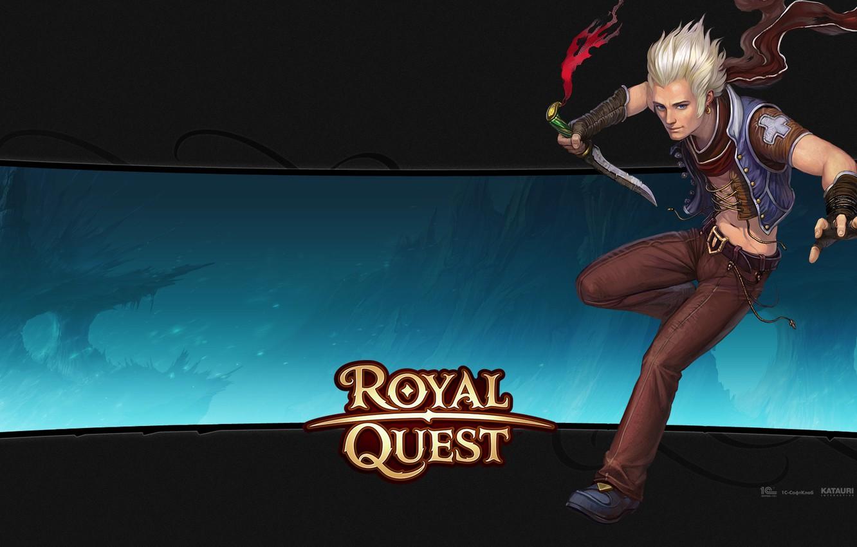 Photo wallpaper dagger, guy, blonde, Royal Quest, Katauri Interactive