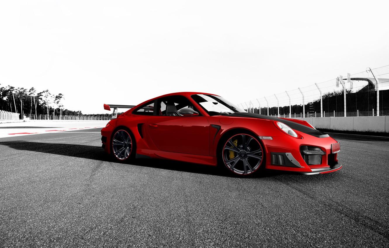 Photo wallpaper red, tuning, 911, Porsche, Porsche, Porsche, track, GT2 RS, Techart
