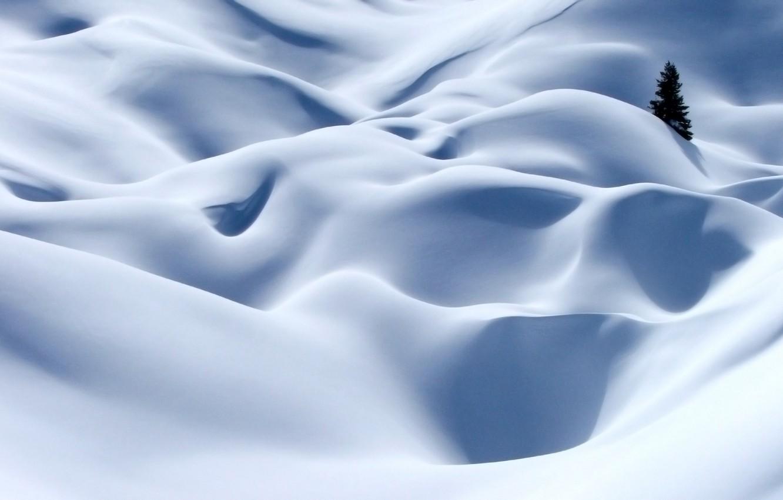 Photo wallpaper winter, white, snow, tree, Alps
