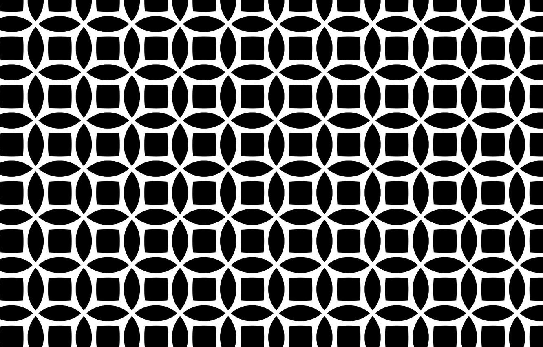 Photo wallpaper white, black, circular, seamless