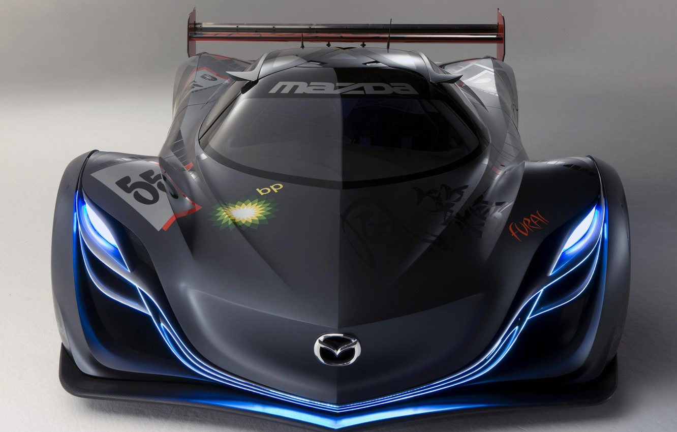 Photo wallpaper neon, front, mazda furai concept