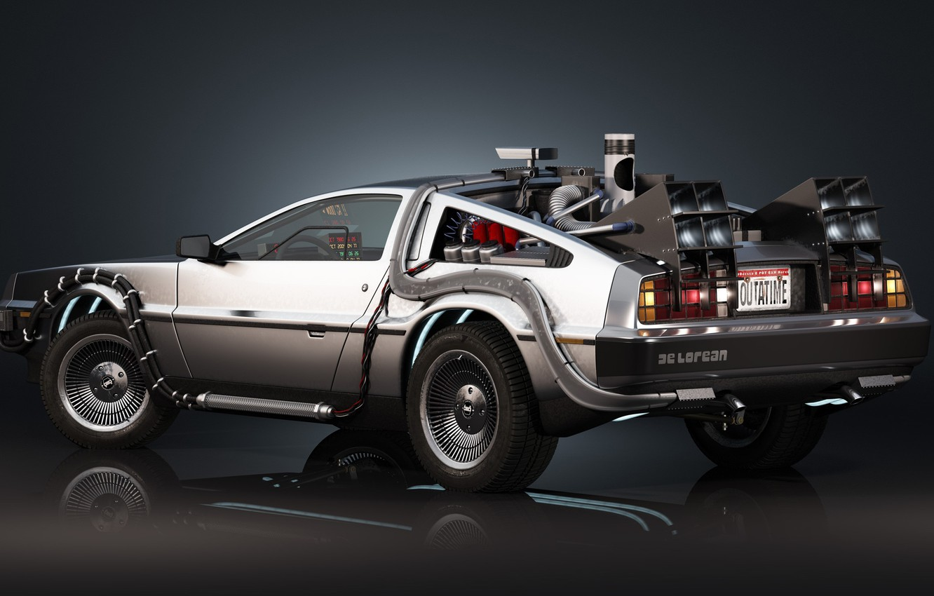 Photo wallpaper Delorean, Back to the Future, Time machine, Time machine
