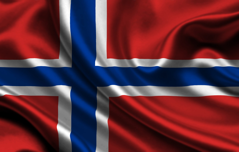 Photo wallpaper flag, Norway, norway