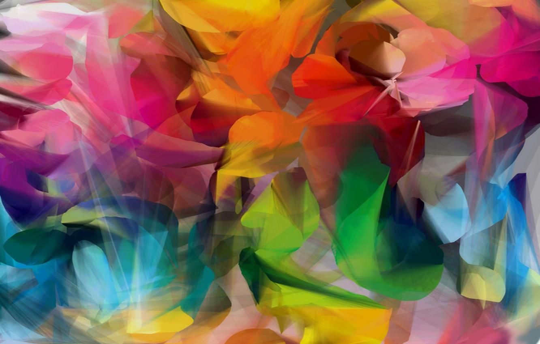 Photo wallpaper paint, color, art, brightness, color