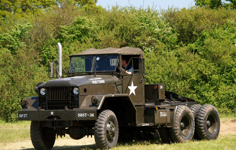Photo wallpaper car, American, military, Semi Tractor, 5-ton, M52