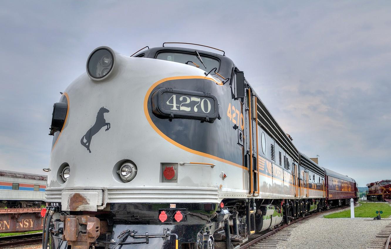 Photo wallpaper road, train, locomotive