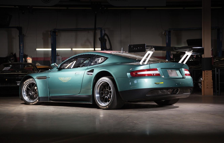 Photo wallpaper background, Aston Martin, rear view, Aston Martin, wing, DBRS9