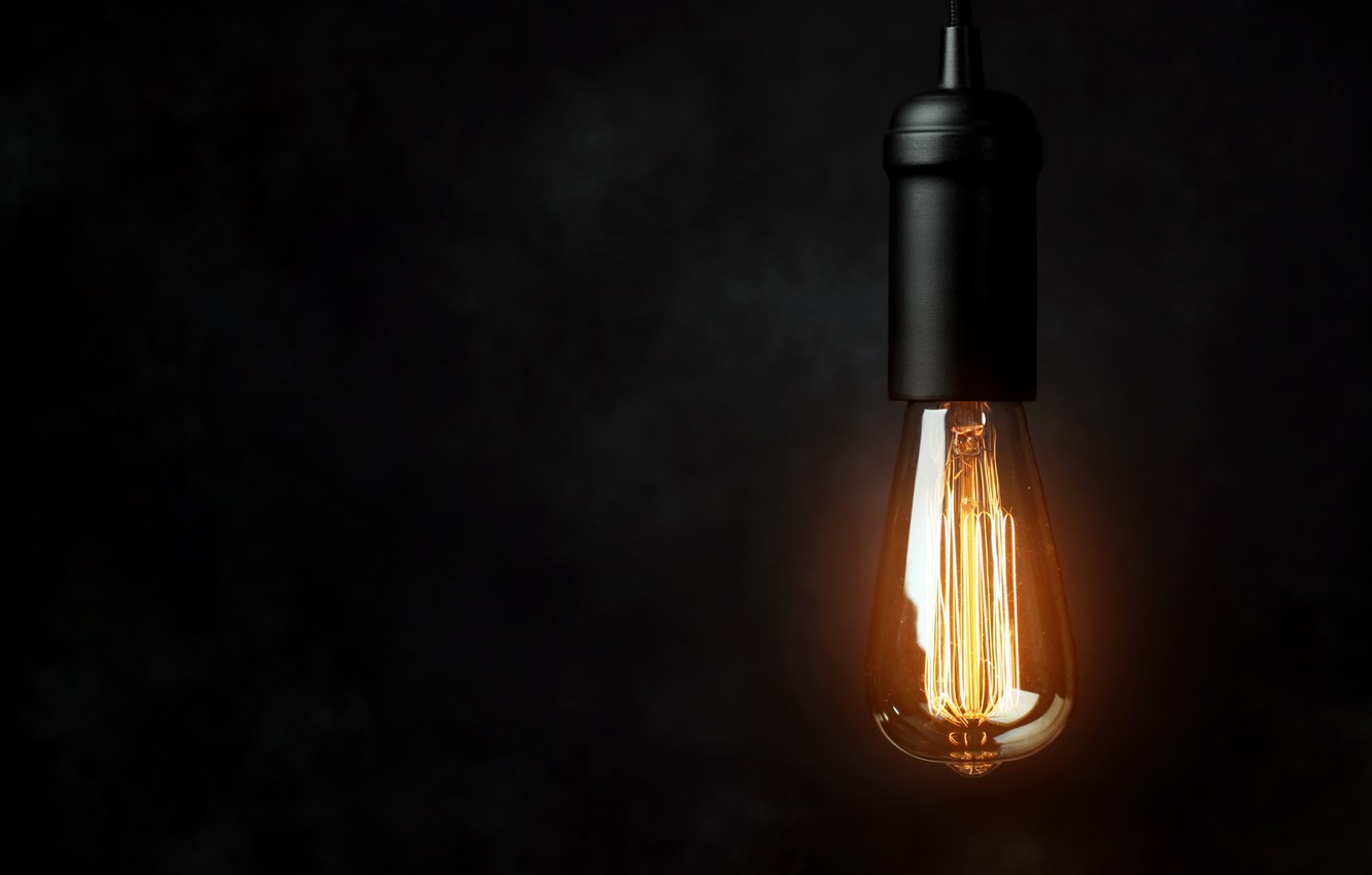 Photo wallpaper lighting, light bulb, electricity