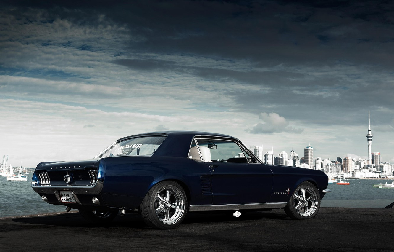 Photo wallpaper Mustang, Ford, Mustang, muscle car, Ford, muscle car, 1967, Jake, Andrei Diomidov