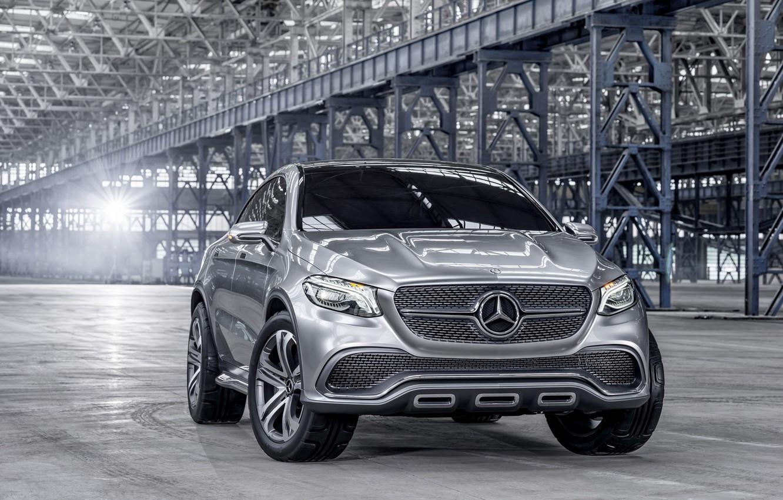 Photo wallpaper Concept, grey, Mercedes-Benz, Mercedes, SUV, Silver