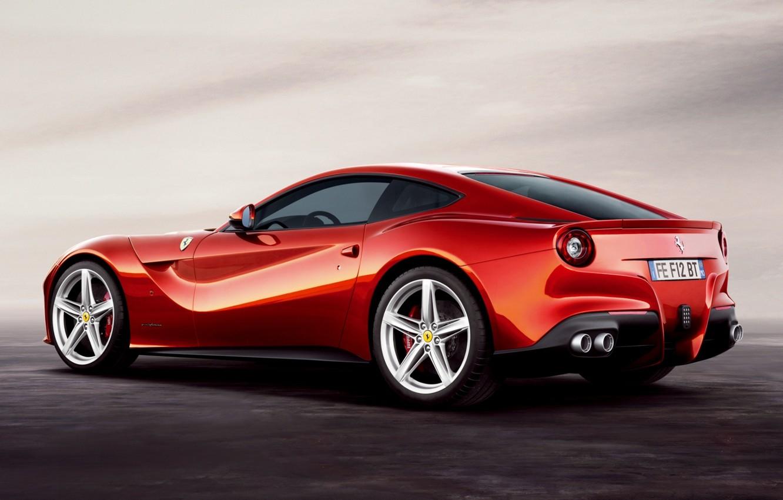 Photo wallpaper red, supercar, ferrari, Ferrari, rear view, beautiful car, f12, berlinetta, Berlinetta, F12