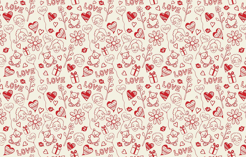 Photo wallpaper girl, love, face, holiday, heart, vector, texture, heart, lips, drawings, girl, gifts, hearts, sponge, widescreen …